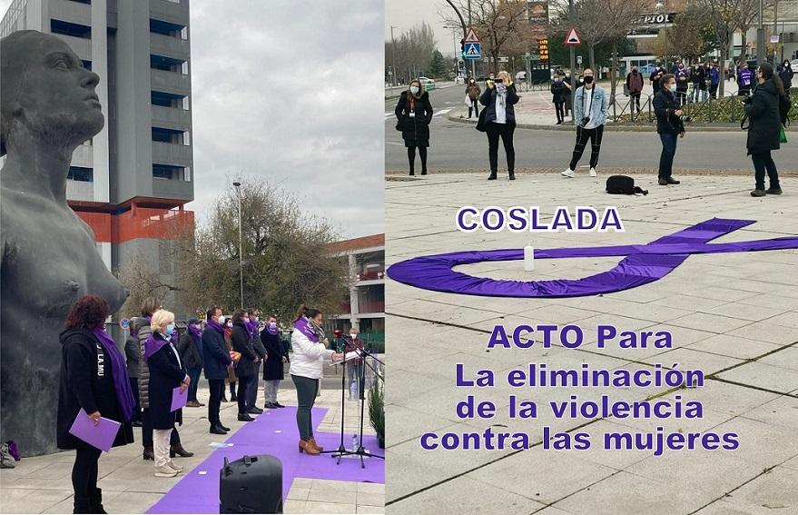 25-N – Coslada recuerda con un acto el día para la eliminación de la violencia contra las mujeres.