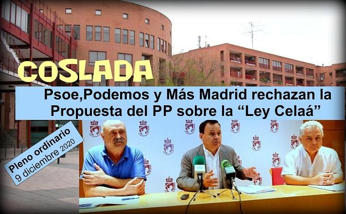 """Coslada: El gobierno del Tripartito- PSOE, Podemos y Más Madrid-, rechazó la moción que presentó el PP sobre la """"Ley Celaá"""""""