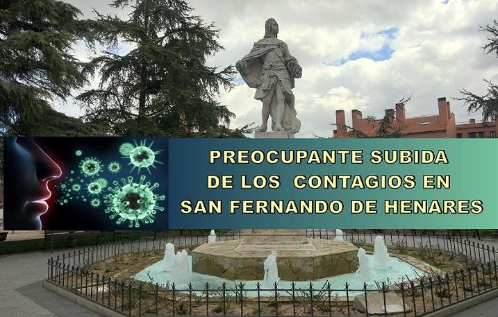 En San Fernando de Henares los contagios por Covid-19 suben de forma preocupante. La incidencia acumulada es de 461,55 con 182 casos confirmados en los últimos 14 días.