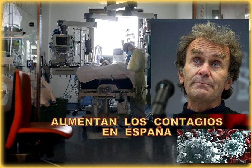 Suben los contagios por Covid en España. Sanidad comunica 12.131 casos y 181 fallecidos.