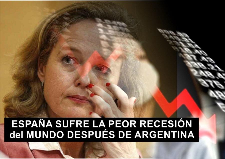 España sufre la peor Recesión del MUNDO después de Argentina, según la OCDE.