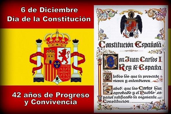 La Constitución Española cumple hoy 6 de Diciembre 42 años.