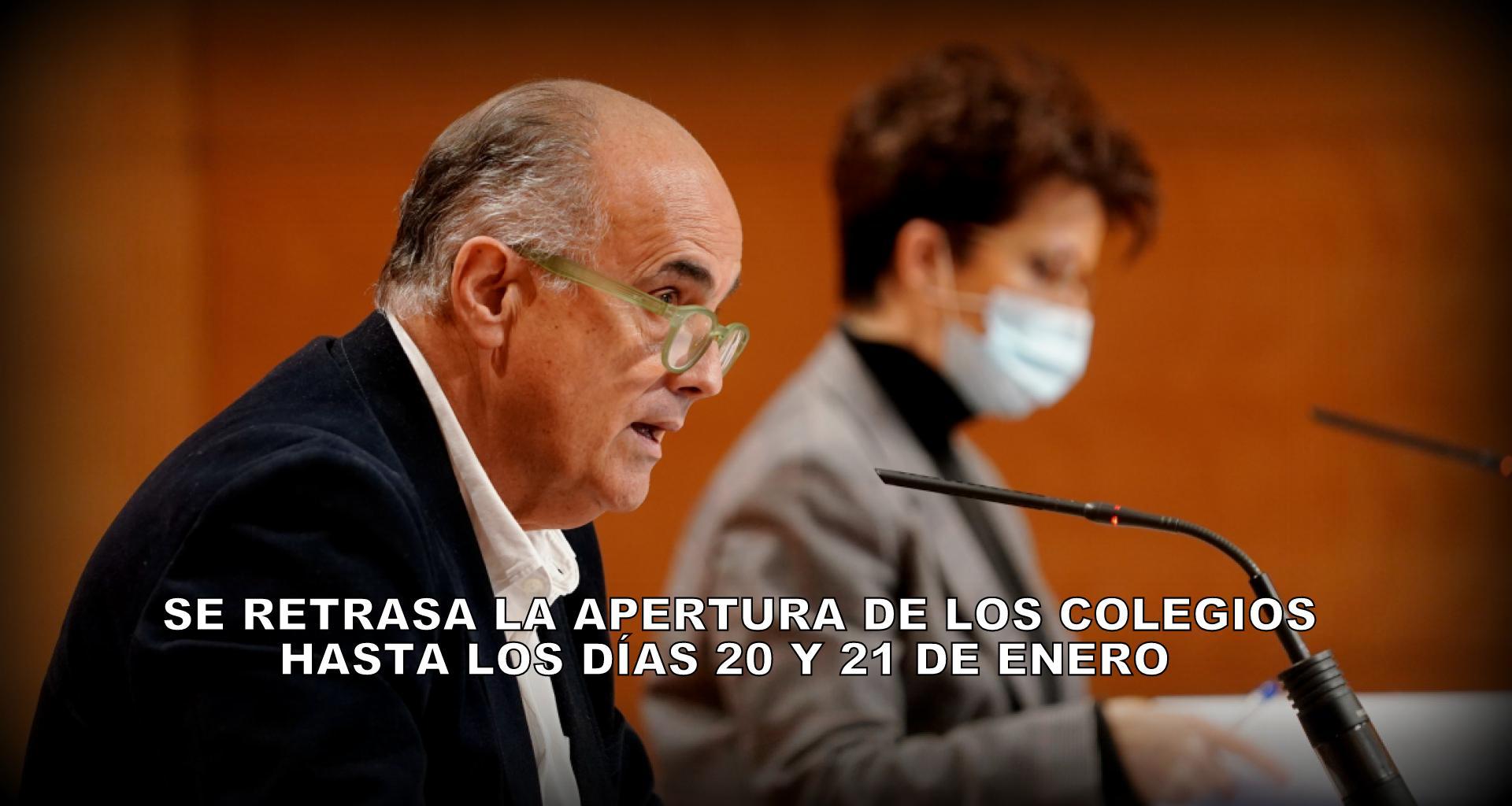 La Comunidad de Madrid amplía y aumenta las restricciones de Movilidad ante el elevado número de infectados por el Covid-19. Y retrasa la apertura de los centros educativos, hasta los días 20  y 21 de enero.