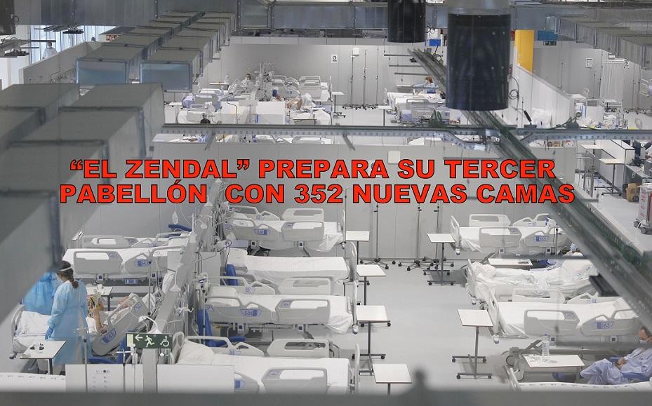 El Gobierno de Ayuso, prepara el tercer pabellón del Hospital público Enfermera Isabel Zendal con 352 camas de hospitalización.