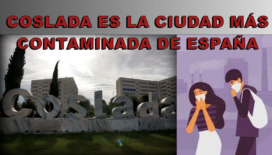 Coslada es la ciudad más contaminada de España por delante de Granada y Mollet del Vallès.
