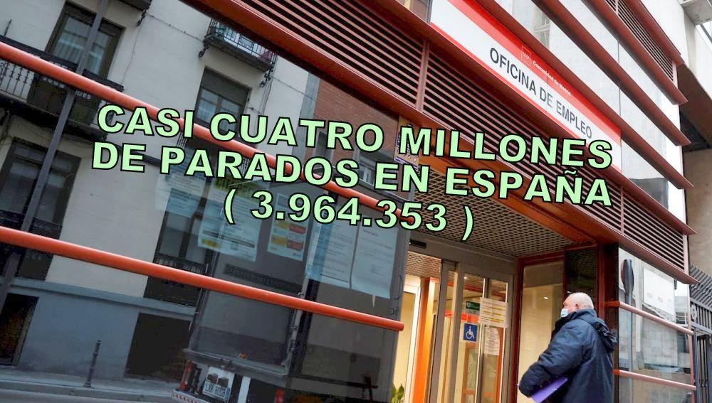 La cifra de desempleados en España roza ya los  cuatro millones. En Enero el paro aumenta en 76.216 personas más