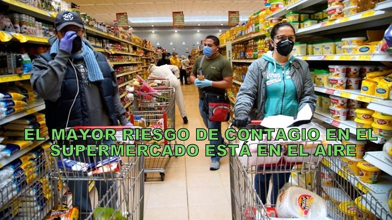 Covid-19   ¿Dónde está el mayor riesgo de contagio en un supermercado?