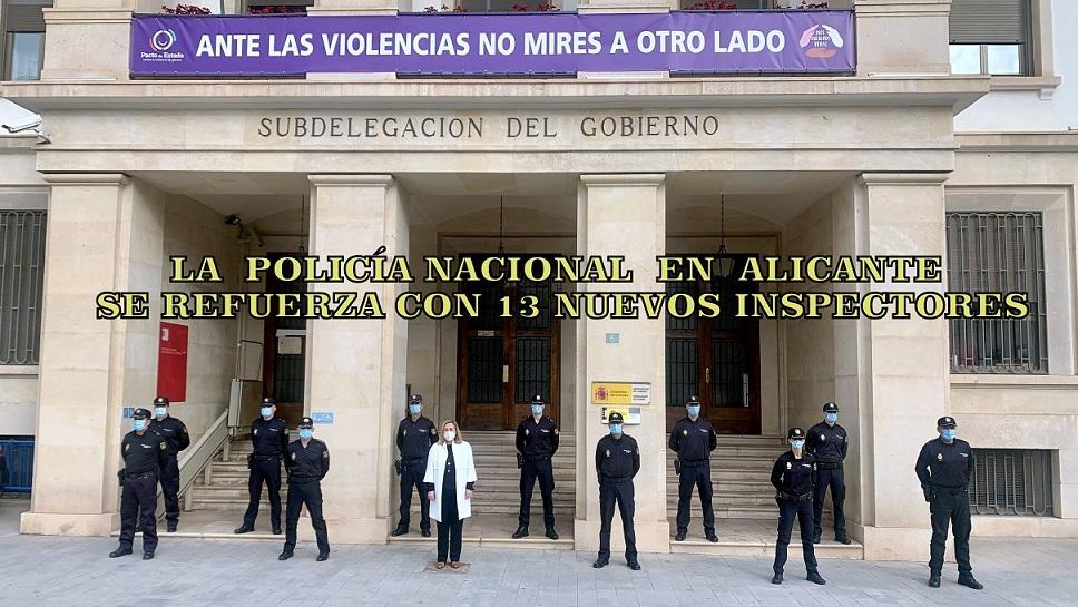 Trece nuevos Inspectores de la Policía Nacional reforzarán la plantilla en la zona de Alicante.
