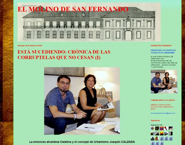 """Desde la Asociación El Molino denuncian: """"Crónica de corruptelas que no cesan (I)"""" en el Ayuntamiento de San Fernando de Henares"""