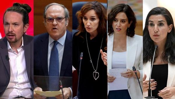 ¿Serán estos los candidatos definitivos a las elecciones del 4-M en la Comunidad de Madrid?