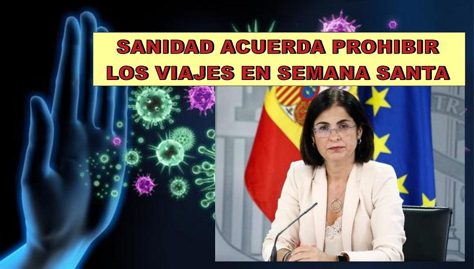 Las comunidades gobernadas por PSOE y sus socios de gobierno, avalan la propuesta de Sanidad, de prohibir los viajes en semana Santa y las reuniones de más de cuatro personas. Madrid vota en contra.