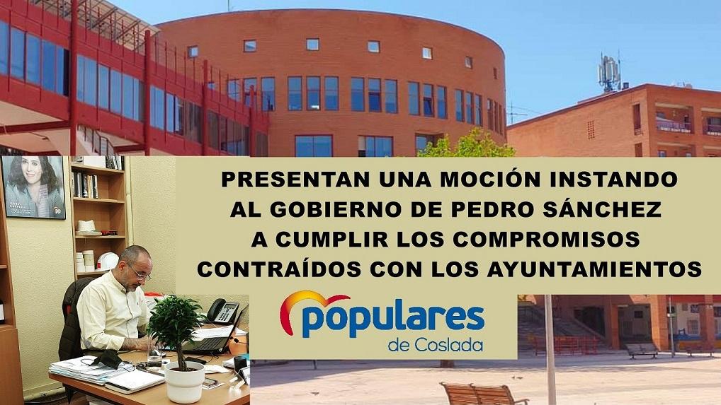 Coslada: El PP Presenta una moción instando al gobierno de Pedro Sánchez a cumplir los compromisos contraídos con los Ayuntamientos.