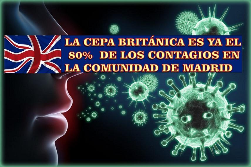 En San Fernando suben los contagios y la presencia de la cepa británica del Covid-19  es ya del 80% en la Comunidad de Madrid.