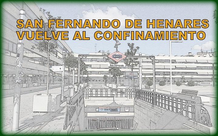 En San Fernando de Henares vuelve el confinamiento. La Comunidad de Madrid limita la movilidad por COVID-19 en otras seis zonas básicas de salud  y tres municipios,