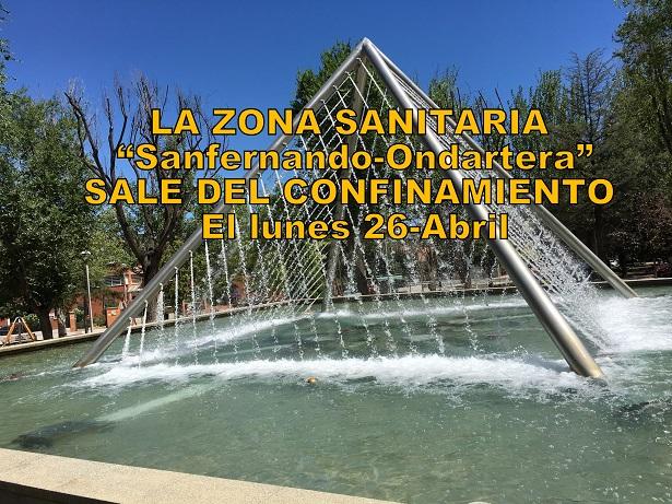 """San Fernando de Henares: el lunes 26, la Zona """"Sanfernando/Ondarreta""""sale de las restricciones."""