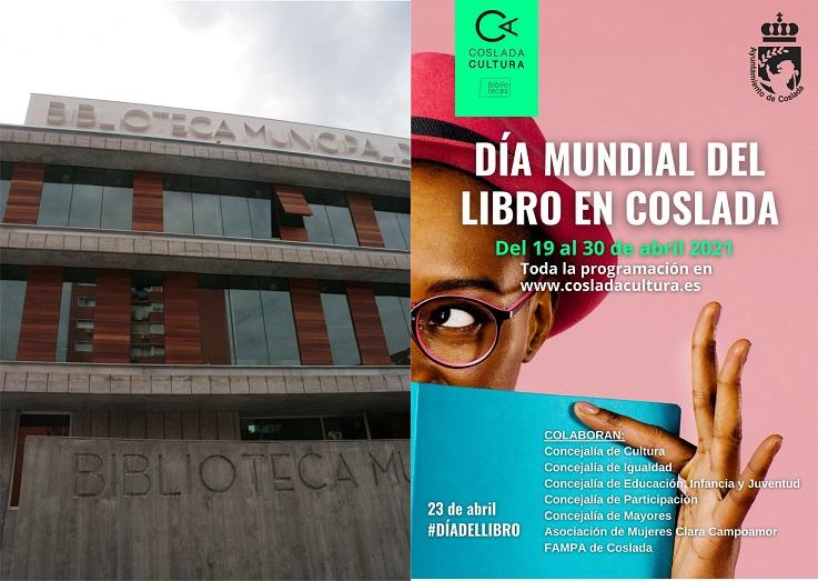 El Ayuntamiento de Coslada celebrará el día Mundial del libro entre el 19 y el 30 de Abril.