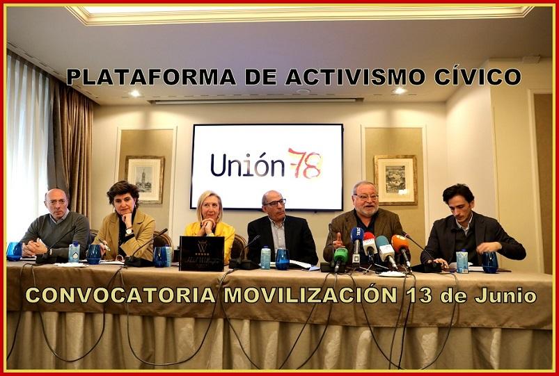 Convocan a la ciudadanía a movilizarse en Madrid el 13 de Junio, al margen de los Partidos Políticos.