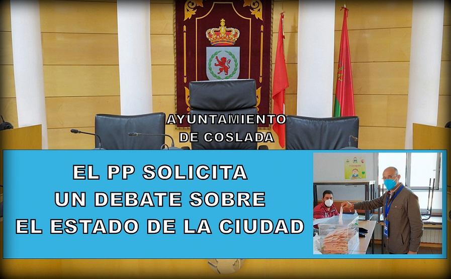EL PP de Coslada solicita que se celebre un Debate sobre el Estado de la Ciudad.