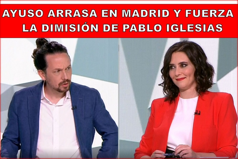 """Madrid vota masivamente en democracia y libertad. """"Habló la mayoría """"-como quería Podemos- y dijo NO a las políticas de Pedro Sánchez y Pablo Iglesias."""