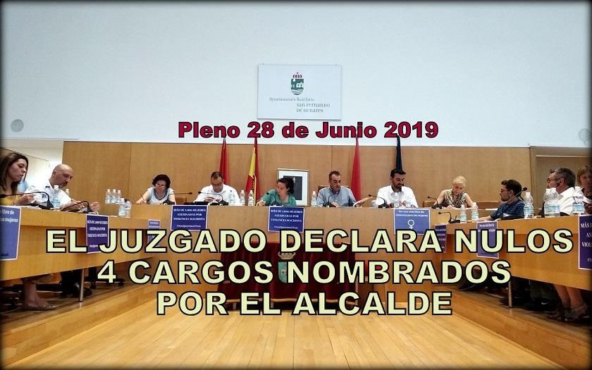 El Juzgado declara NULOS los 4 cargos eventuales que el alcalde Corpa nombró Coordinadores del Ayuntamiento.