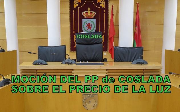 El PP de Coslada presenta una moción para instar al Gobierno de España a bajar el precio de la luz.