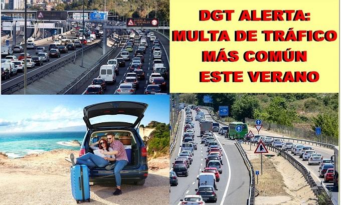 La DGT alerta de la multa de tráfico más común para este verano: 200 euros y 3 puntos de carnet.