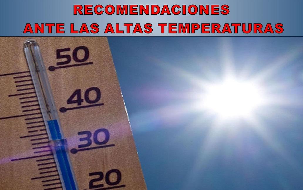 Algunas recomendaciones ante las altas temperaturas que sufrimos.
