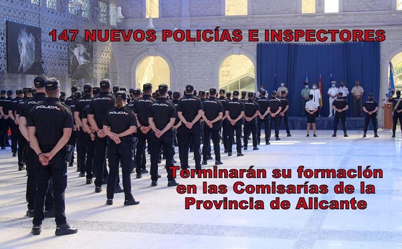 147 Policías e Inspectores en prácticas concluirán su formación en las Comisarías de la Provincia de Alicante.