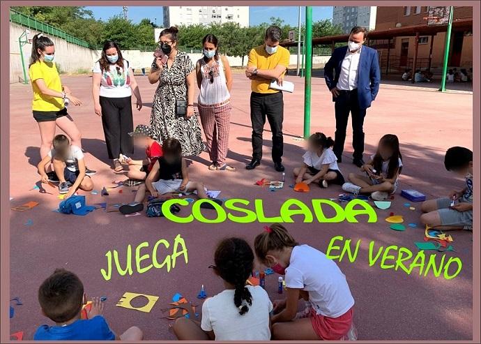 El programa Coslada Juega en Verano, se desarrolla en seis centros educativos del municipio.
