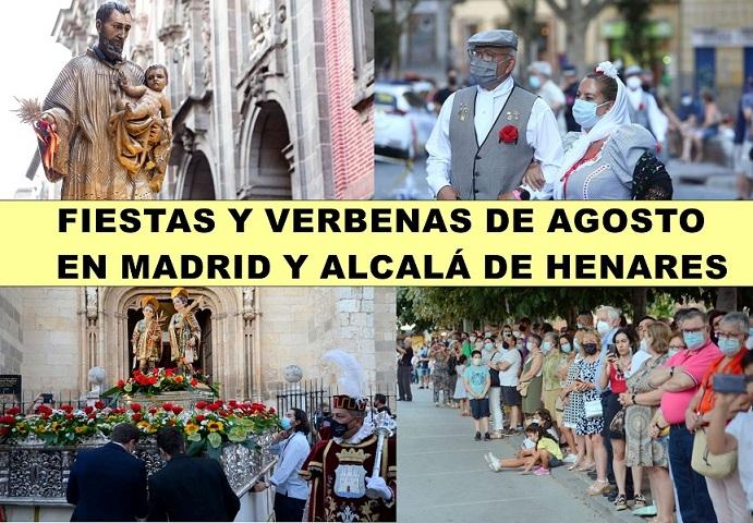 Las Fiestas y verbenas de agosto en Madrid y el corredor del Henares, se celebran con distancia y medidas de seguridad.