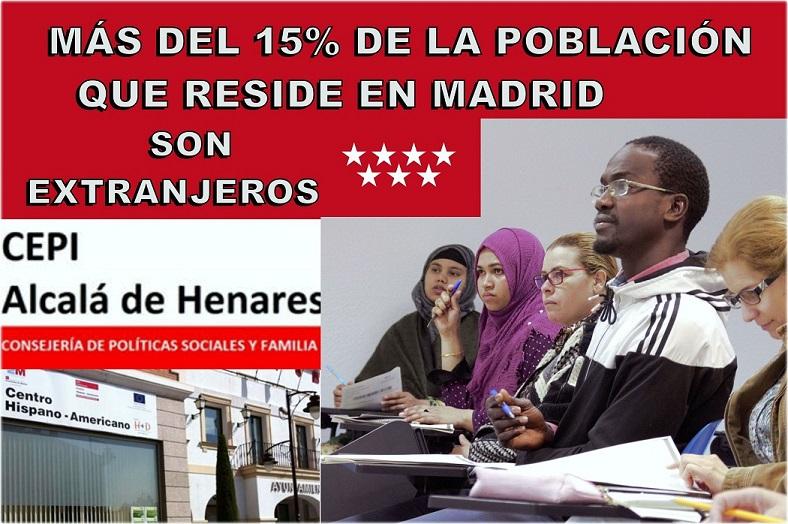 En la región de Madrid actualmente residen más de 1 millón de extranjeros. El 15% de la población total de la Comunidad.