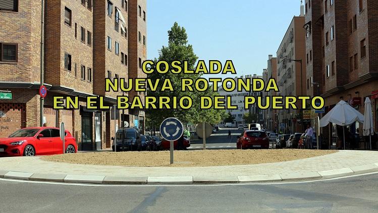 Coslada ya tiene una nueva rotonda en el Barrio del Puerto.