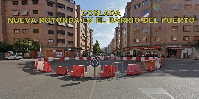 Comienza la construcción de una rotonda en el barrio del Puerto de Coslada.