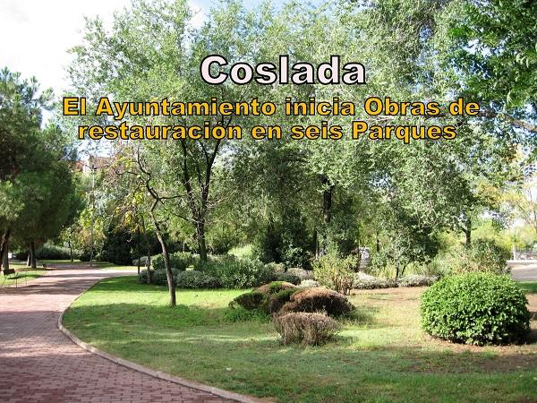 Coslada: El Ayuntamiento inicia obras de acondicionamiento en seis Parques, con una duración estimada de seis meses..