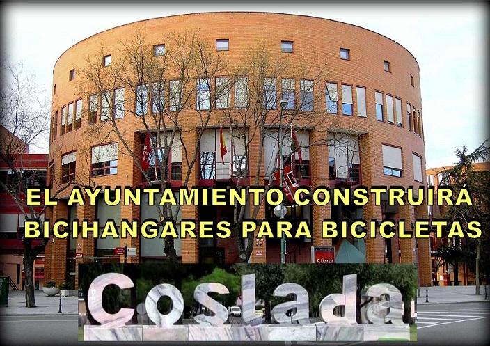 Coslada. El Ayuntamiento Construirá Bicihangares en las calles para Bicicletas.