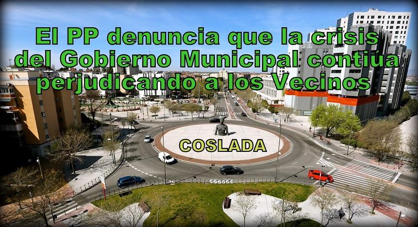 Los Populares de Coslada creen que la crisis del Gobierno municipal continua perjudicando los intereses de los vecinos