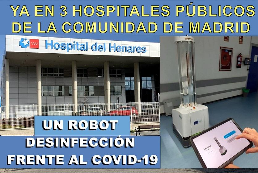 El Hospital del Henares dispone ya de un robot de desinfección frente a COVID-19.