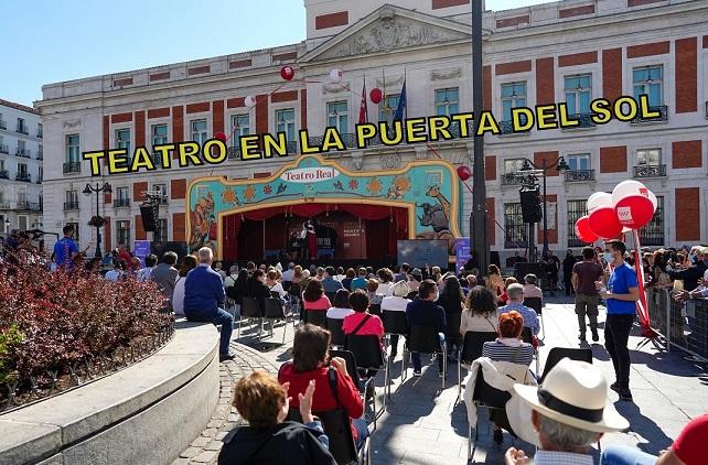 Comunidad de Madrid: Recital Itinerante de la carroza del Teatro Real en la Puerta del Sol.
